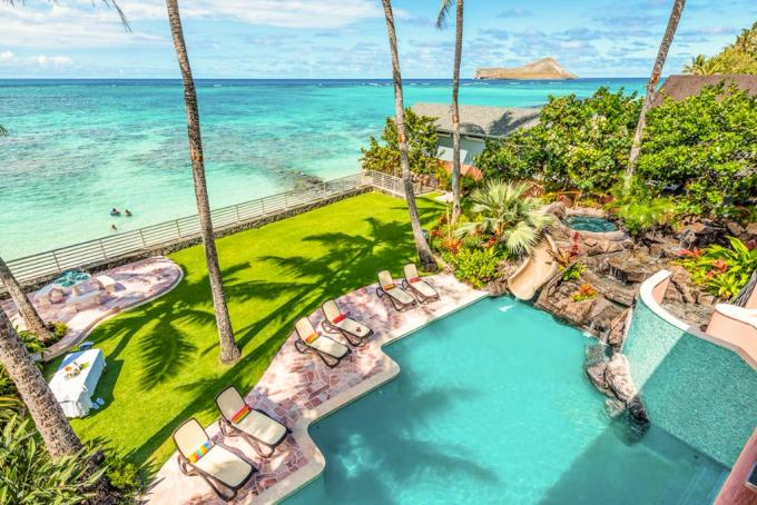 Royal Hawaiian Oceanfront Beach Estate Oahu