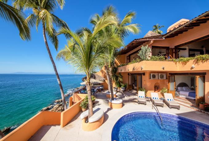 Conchas Chinas vacation rental: Villa McFuego - 3BR Home + Private Pool