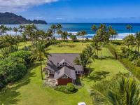 Hanalei vacation rental: The Red House in Hanalei - 5BR Beachfront Home