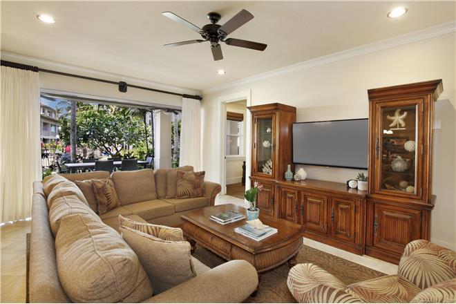 Koloa condo rental: Villas at Poipu Kai - 4BR Penthouse Garden View #F100